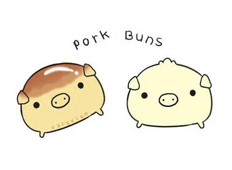 Pork buns by oblyvian.