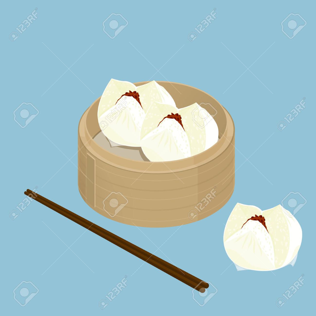 95 Steamed Pork Bun Cliparts, Stock Vector And Royalty Free.