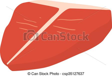 Vectors of Fresh crude pork neck meat steak vector isolated on.