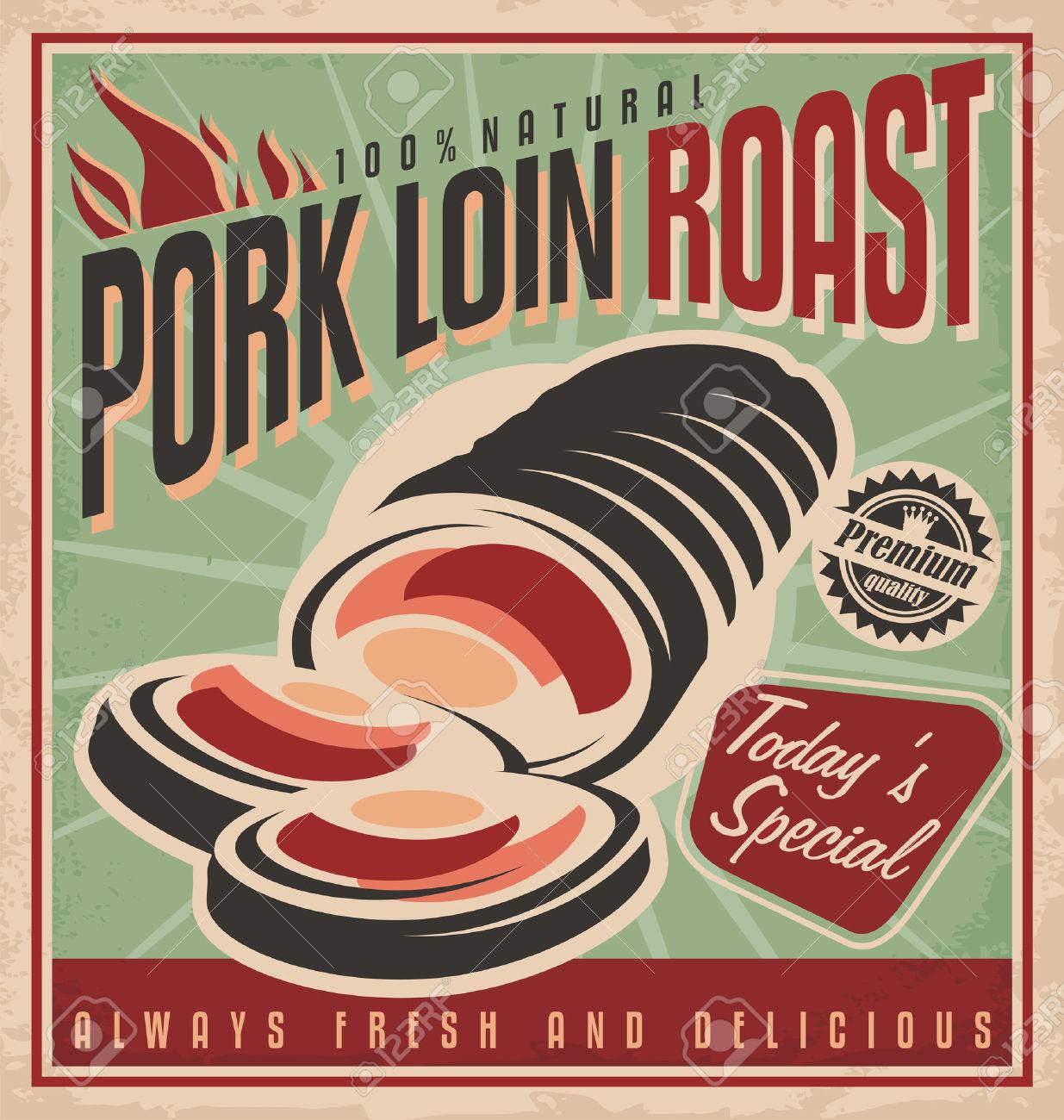 Pork roast clip art.