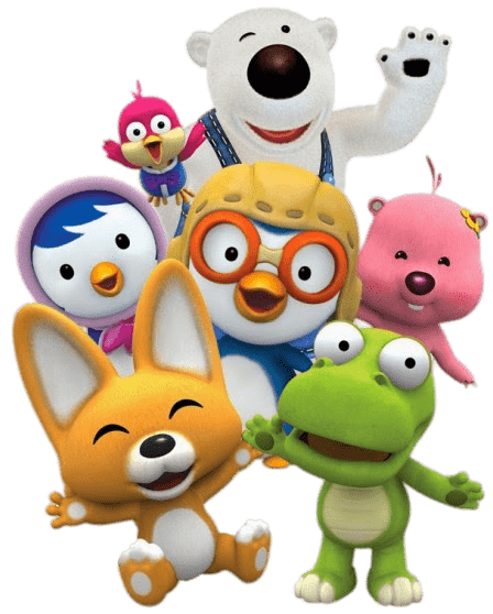 Pororo Characters transparent PNG.