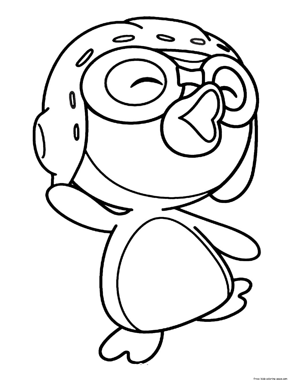 Printable pororo the little penguin coloring pages for kidsFree.