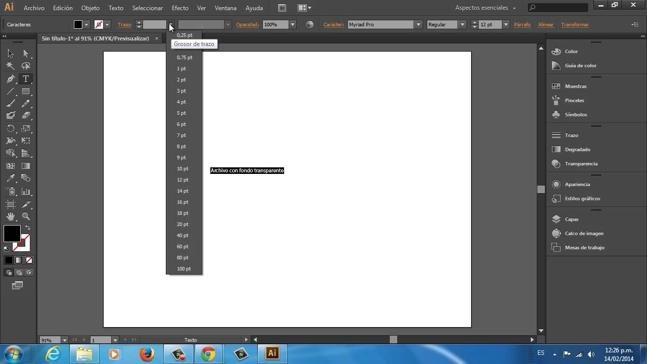 Cómo guardar un archivo con fondo transparente en Adobe Illustrator CS6.