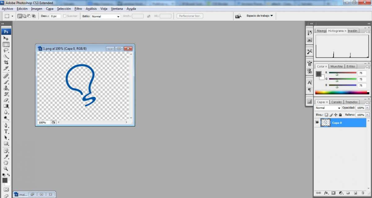 Como poner fondo transparente a una imagen con Photoshop.
