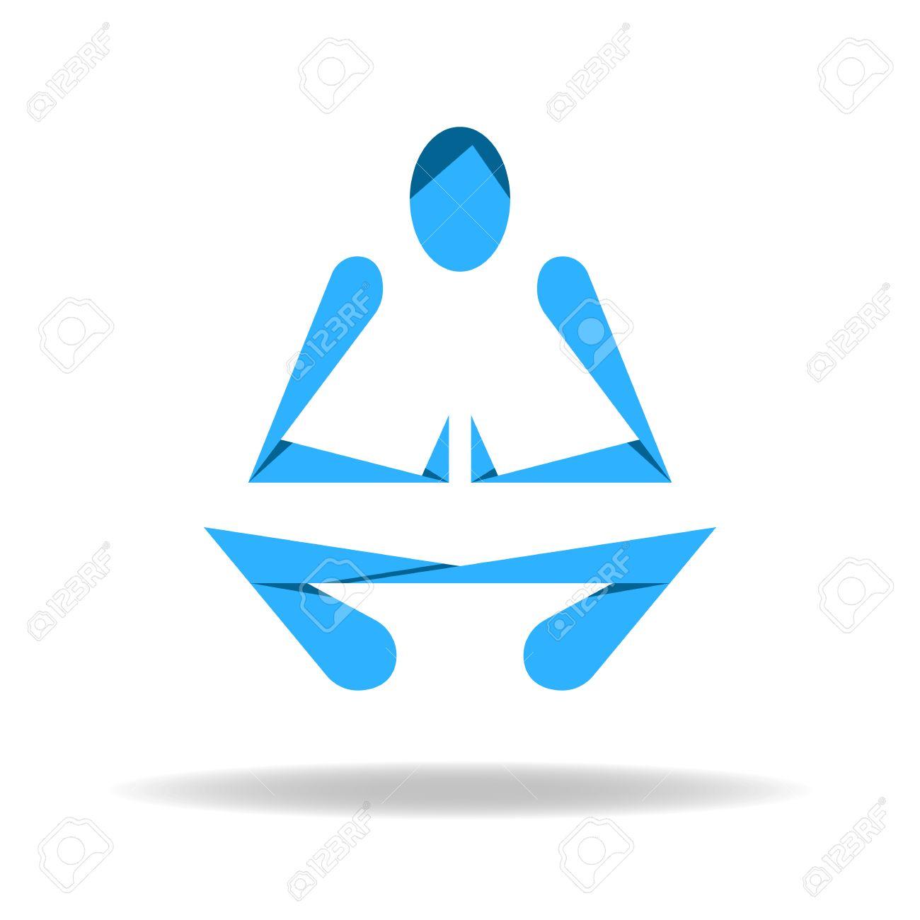 Ente Astratto Yoga Loto Porre Clipart Royalty.