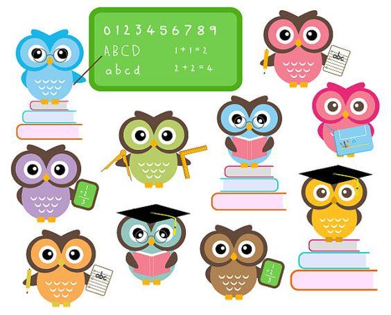 Owl School Clipart Classroom Education Clip Art Scrapbooking.