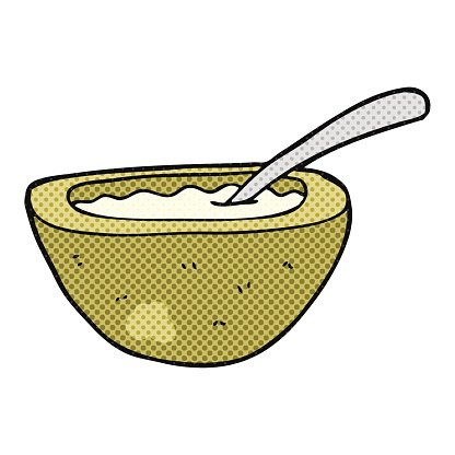 Cartoon Porridge premium clipart.