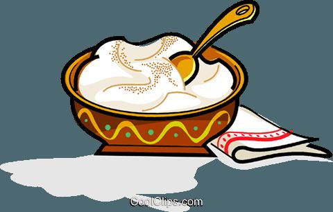 Swedish julgrot, Christmas porridge Royalty Free Vector Clip.