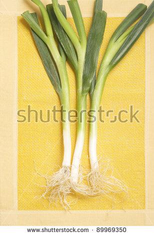 Allium Porrum Stock Photos, Royalty.