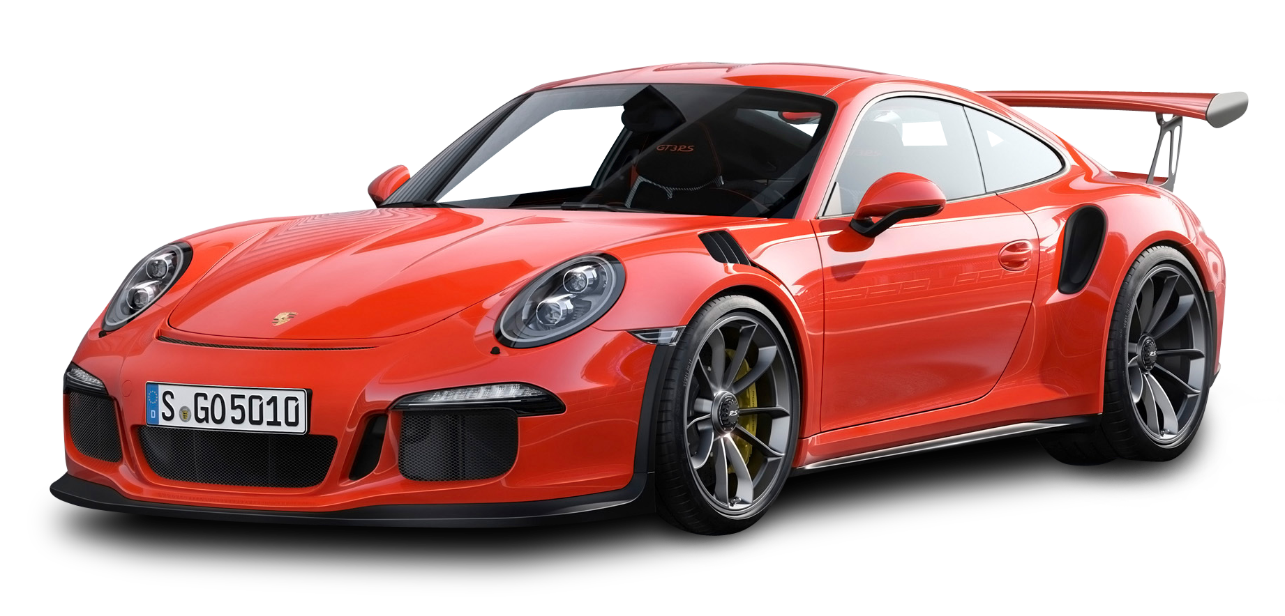 Red Porsche 911 GT3 RS 4 Car PNG Image.