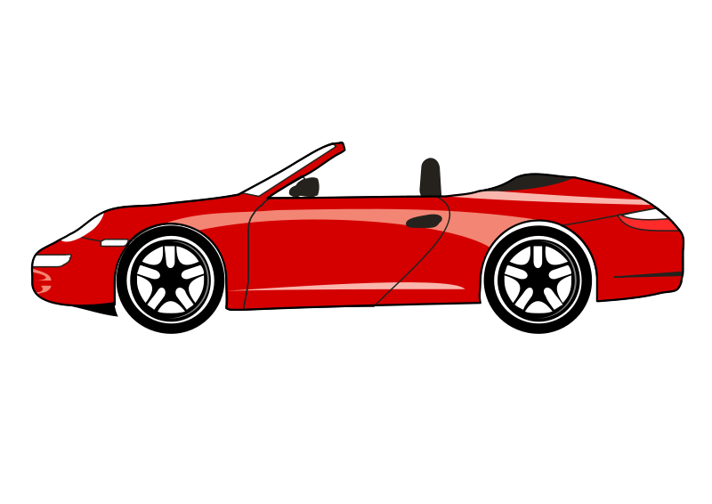 Free Clipart: Draft form Porsche Carrera GT.