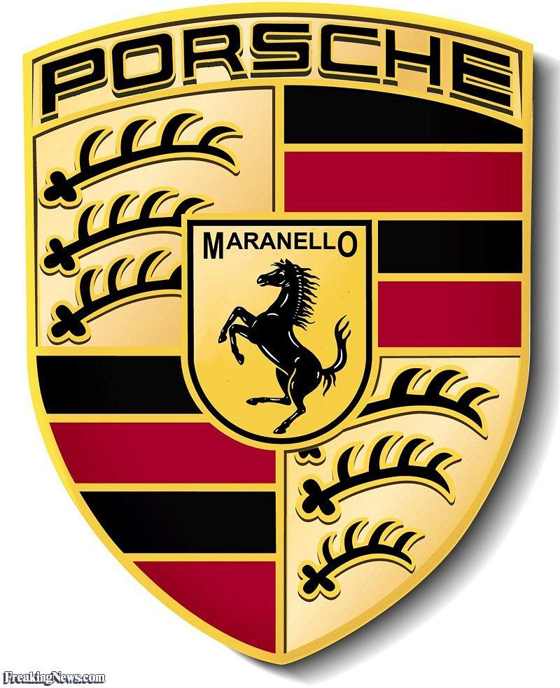 gold porsche logo.