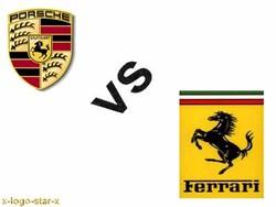 Porsche vs ferrari Logos.