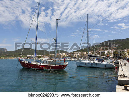 "Stock Image of ""Harbour or marina of Puerto Andratx, Port d."
