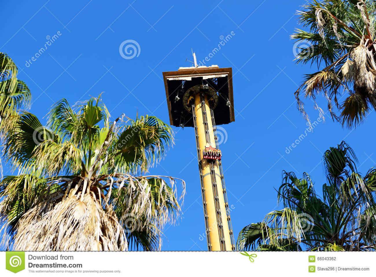The Hurakan Condor Ride In Port Aventura Theme Park Stock Photo.