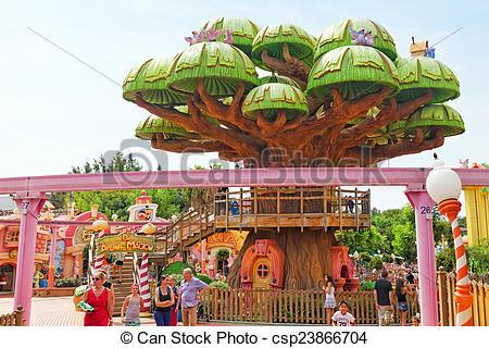 Stock Photography of Amusement park in Spain near Salou.