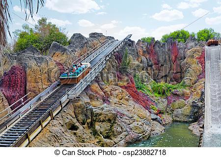 Stock Photography of :Amusement park in Spain near Salou.