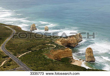Stock Photo of Great Ocean Road, Port Campbell National Park.