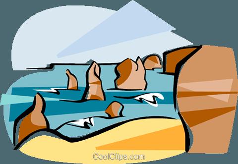 Australia Port Campbell Royalty Free Vector Clip Art illustration.