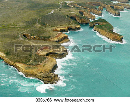 Stock Images of Rock formation at a coast, Port Campbell National.