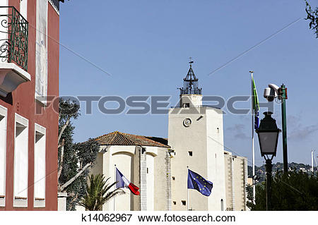 Picture of Port Grimaud, church, France k14062967.
