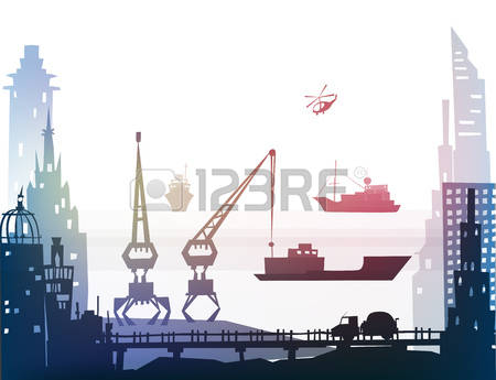 3,204 Port City Cliparts, Stock Vector And Royalty Free Port City.