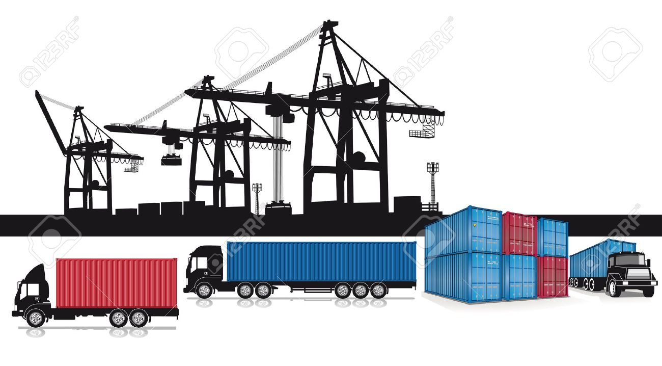 6,278 Shipping Port Cliparts, Stock Vector And Royalty Free.