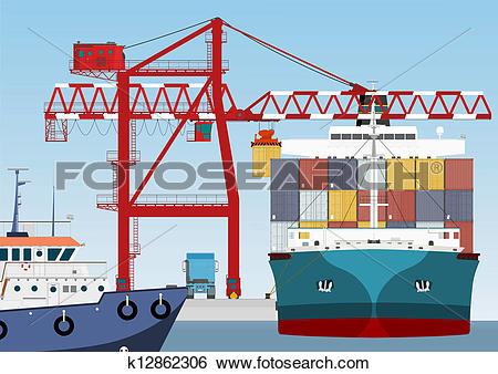 Port crane Clipart EPS Images. 778 port crane clip art vector.