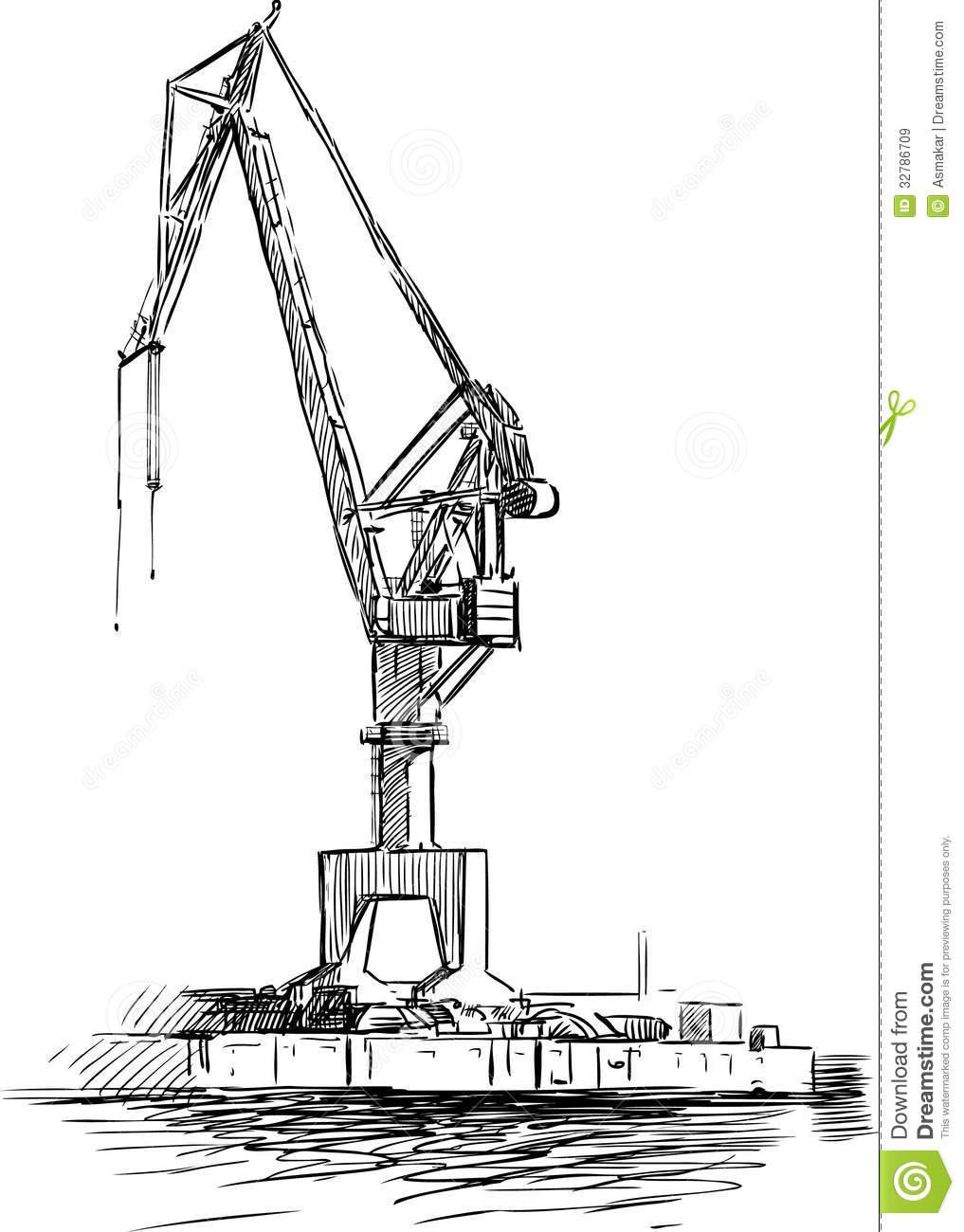 Sea Crane Royalty Free Stock Images.
