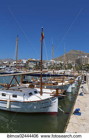 "Stock Images of ""Marina of Pollenca, Cala Sant Vicenc, Port de."