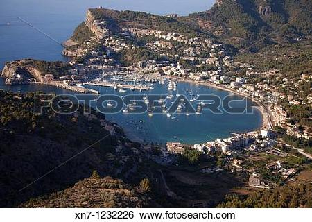 Stock Images of Port de Soller, Mallorca, Balearic Islands, Spain.