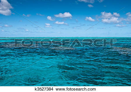 Stock Photo of Surface of the Great Barrier Reef near Port Douglas.