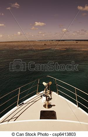 Stock Photos of Surface of the Great Barrier Reef near Port.