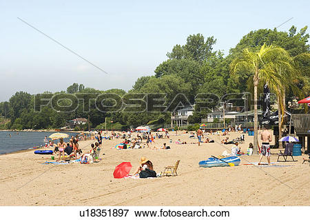 Picture of Beach, Port Dover, Ontario, Canada, people u18351897.