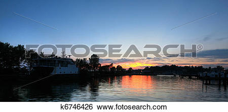 Stock Images of sunset over port dover k6746426.