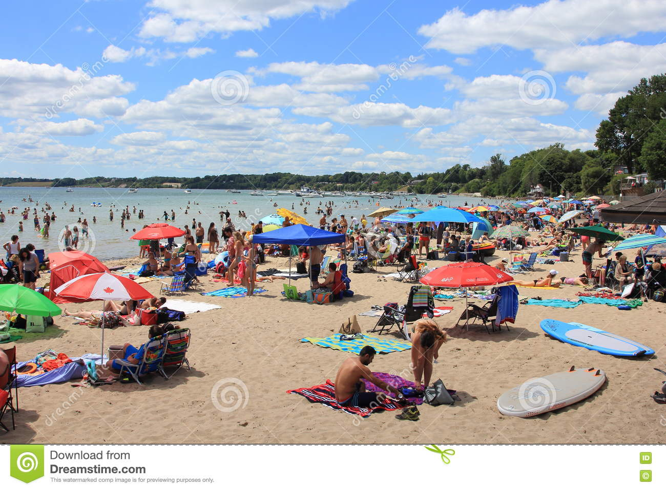 PORT DOVER BEACH DAYS Editorial Stock Image.
