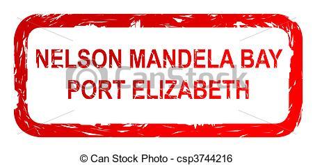 Stock Illustration of Port Elizabeth city stamp.
