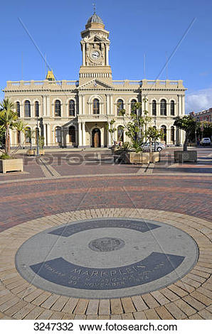 Stock Photo of City hall and the Market Square of Port Elizabeth.