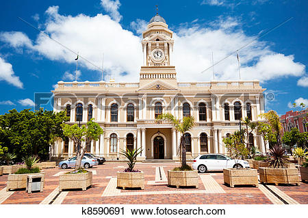 Stock Photography of city hall of Port Elizabeth, South Africa.