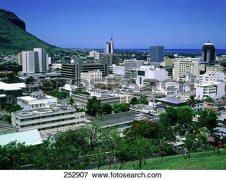 Picture of Aerial view of city, Port Louis, Mauritius 252907.