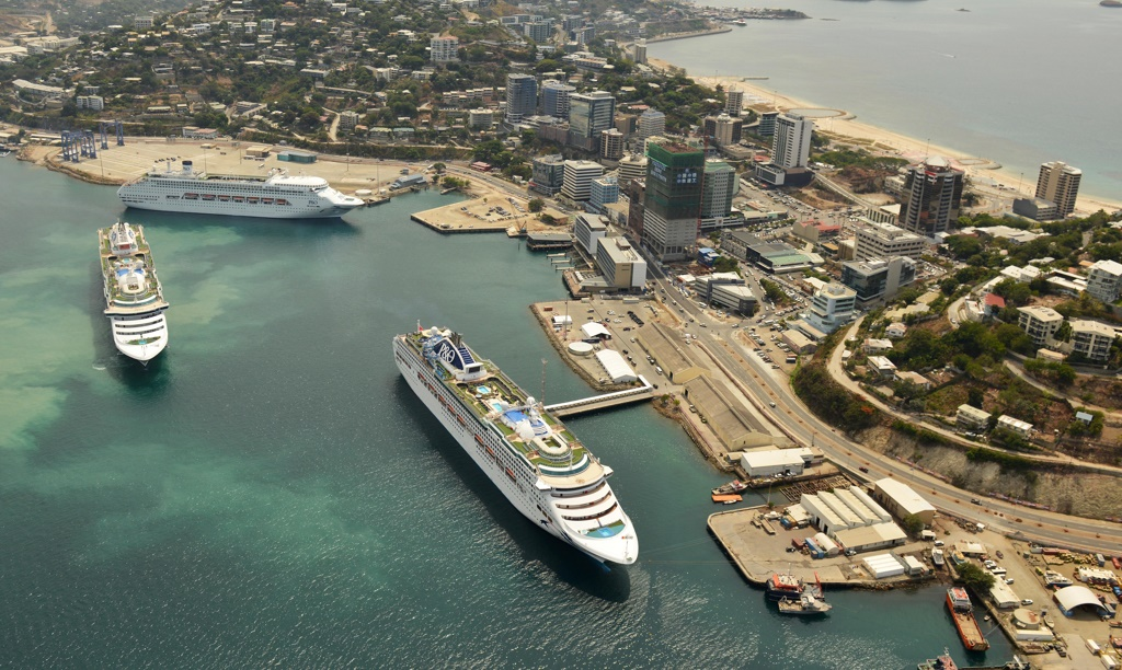 Carnival Australia Salute PNG, Sail from Port Moresby.