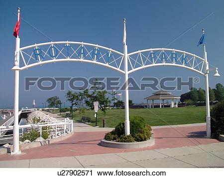 Stock Photography of Port Washington, WI, Wisconsin, Lake Michigan.