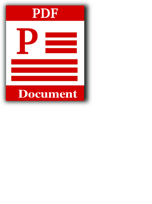 Portable Document Format Icon Clipart.