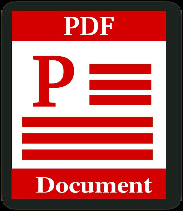 Pdf format clipart.