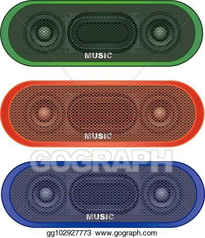 portable speaker clipart #2