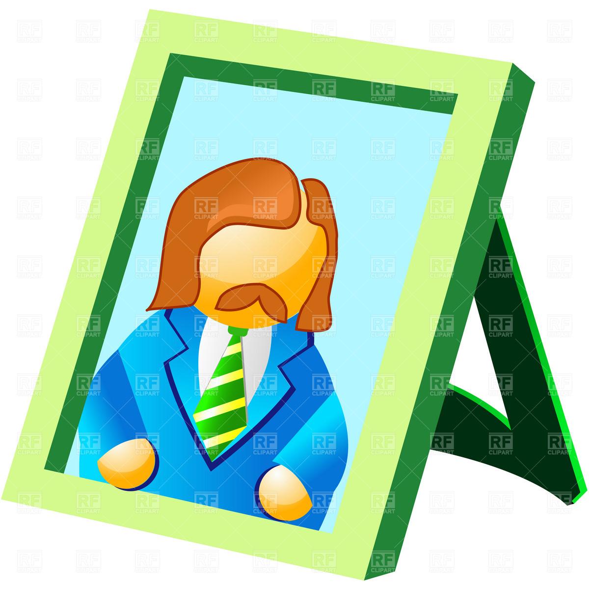 Free clip art portrait.