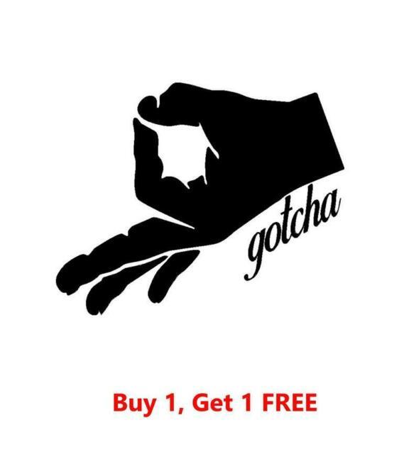 ~*~ 2 GOTCHA Circle Finger Game Logo Vinyl Decal Sticker Walls Glass YETI.