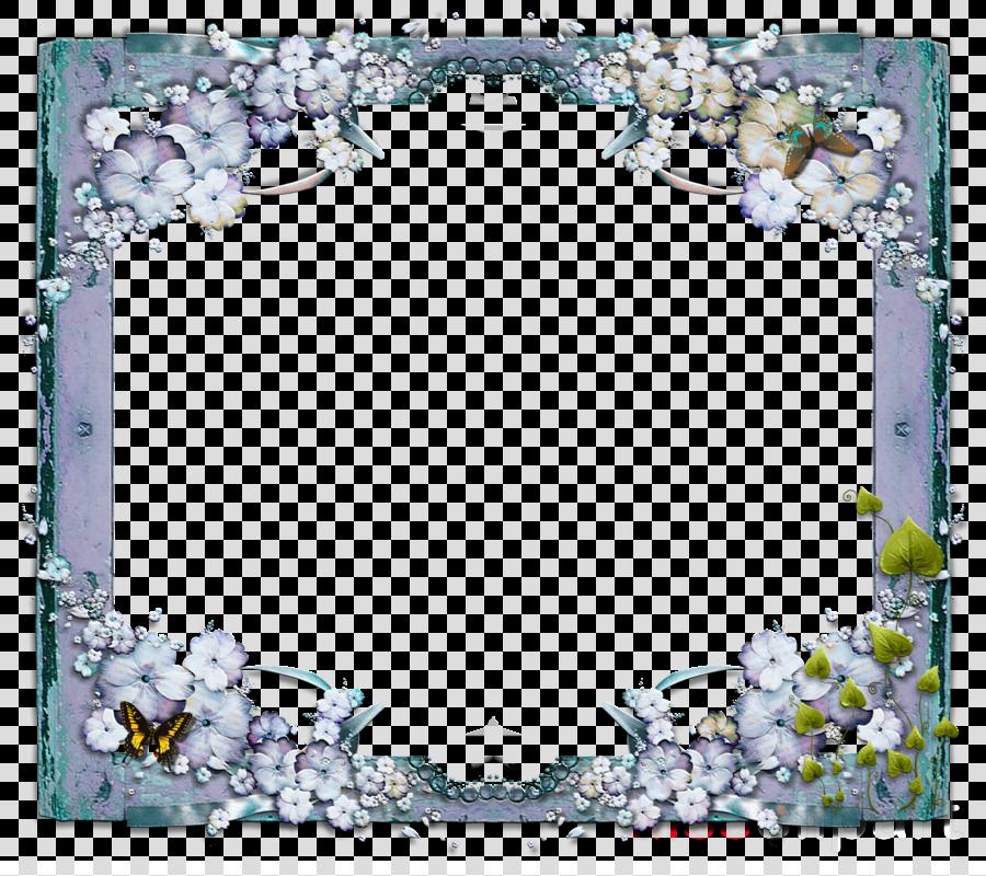 Blue Flower Frame clipart.