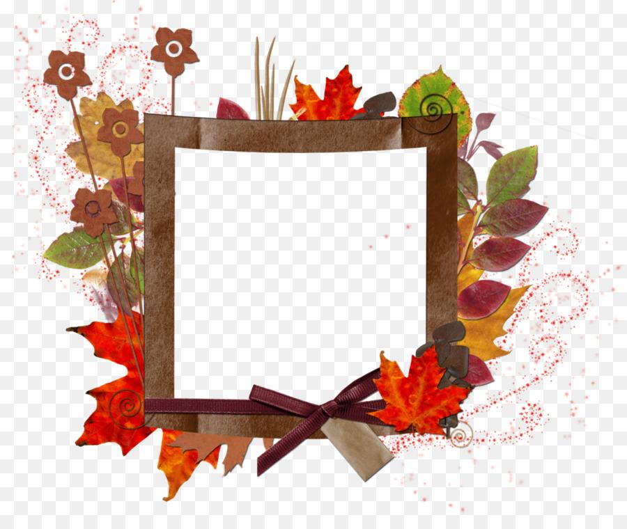Autumn leaf color Picture Frames Clip art.