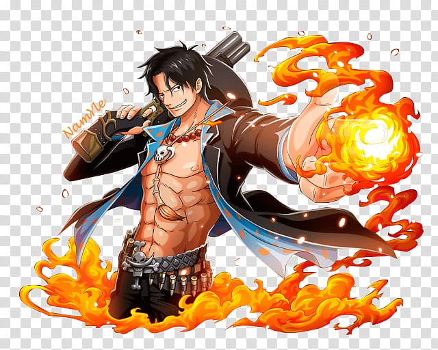 Portgas D Ace Render, Portugas D. Ace of One Piece.